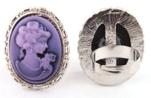 Purple Mary Antoinette Metal Adjustable Finger Ring