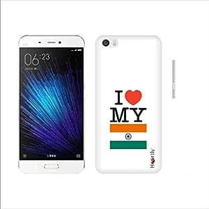 Heartly I Love My Quote Printed Designer Thin Hard Bumper Back Case Cover For Xiaomi Mi5 Mi 5 - India Flag
