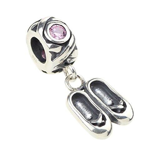Beads Hunter Autentico Argento Sterling 925Ciondolo Pendente con scarpette, per bracciali europeo
