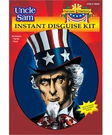 Heroes In History - Uncle Sam Instant Disguise Kit