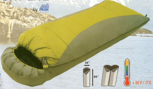 Sleeping Bag: COMFORT LITE Over-Sized 3-Season Rectangular Sleeping Bag with Hood