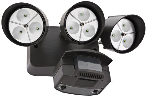 "Bronze Three-Light 7 1/4"" High Motion Sensor Led Floodlight"