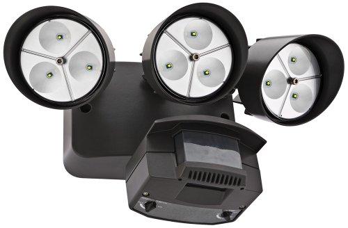 "Bronze Three-Light 7 1/4"" High Motion Sensor Led Floodlight"