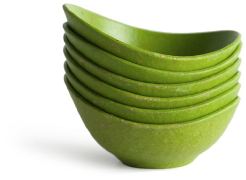 Architec Purelast Pinch of Condiment Cups, 6-Piece, Green