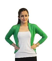 Trendy Green short shrug by Bfly