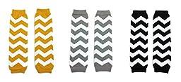 Rush Dance Baby Leg Warmers Set of 3 - Kardashian\'s Gold, Gray & Black Chevron
