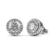 buy Blackgift Swarovski Element Crystal Stud Earrings Streling Silver Earrings