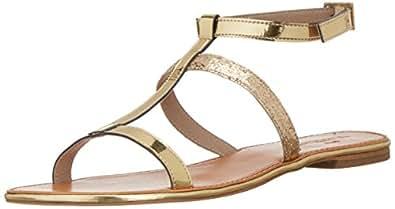 The Trunk Label Women's The Vivienne Flat Gold Fashion Sandals - 8 UK (ATTUR-100593-41)
