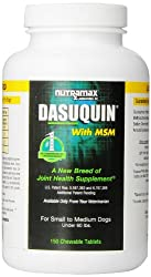 Nutramax Dasuquin with MSM for Dogs Under 60 Pounds - 150 Count