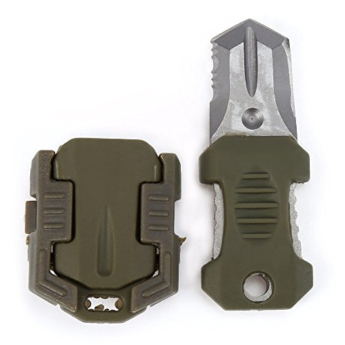 SmartLife EDC Gear Mini Stainless Steel Notched Knife Outdoor Self Defense Survival Tool