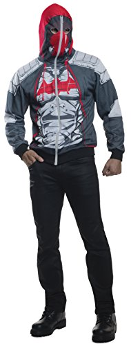 Rubie's Costume Co Men's Arkham Knight Red Hood Hoodie