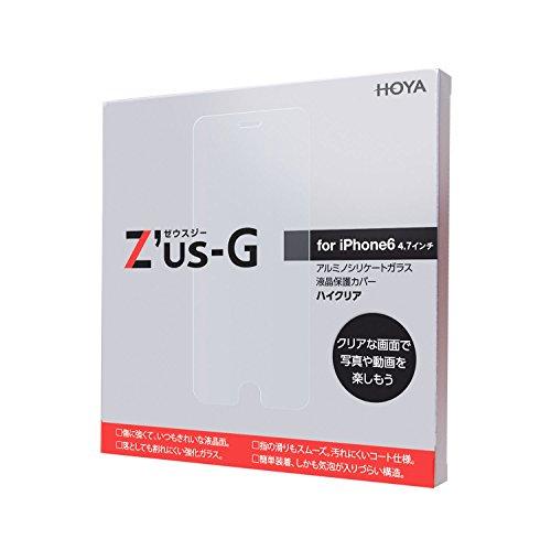 HOYA Z'us-G ゼウスジー for iPhone6 (4.7inch) 強化ガラス液晶保護フィルム ハイクリア 全面強化 耐衝撃、 表面硬度9H、 指紋・汚れ防止コート、 気泡レス、 スムースタッチ