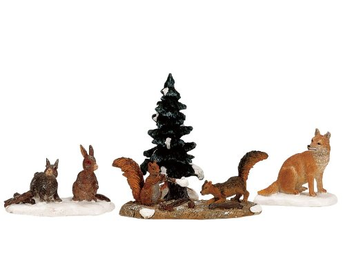 woodland-animals-set-of-4-lemax-christmas-collection
