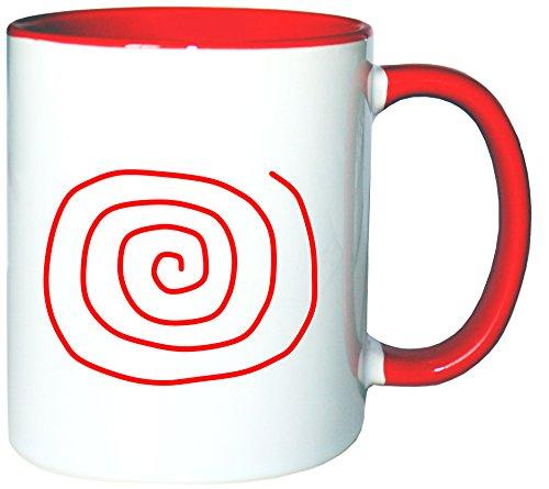 Mister Merchandise Tazzine da caffè Coffee Spiral Spirale Tazze grandi Tazza Teiere molti colori