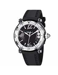 Inexpensive!! Chopard Women's 288507-9029 Happy Sport Round Black Diamond Dial Watch Special offer