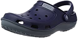 Crocs Unisex Duet�Wave�Clog Nautical Navy and Concrete Rubber Clogs and Mules - M7W9