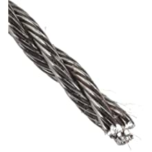 Loos Stainless Steel 302/304 Wire Rope, 3x7 Hollow Core