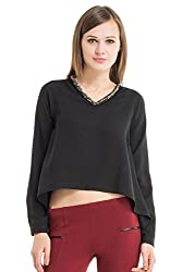 Kazo Women's Body Blouse Shirt (107629BLACKXS)