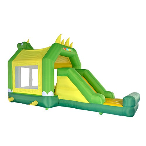 YARD Dinosaur Bounce House with Cover for Kids with Slide Inflatable Bouncers Outdoor Trampoline