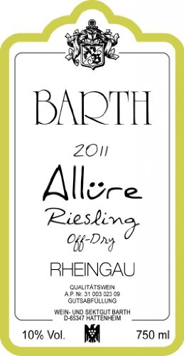 2011 Barth Riesling Allure -Semi-Dry 750 Ml