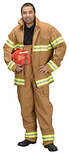 Adult Firefighter (Pants and Jacket Only) Adult Costume Tan