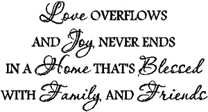 Amazon.com: LOVE OVERFLOWS.FAMILY WALL QUOTES SAYINGS WORDS DECALS