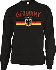 Germany Eagle Crest International Soccer Thermal Shirt, German Soccer Mens Thermal Shirt
