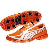 Puma Amp Cell Fusion SL Golf Shoes - Vibrant Orange/White - 11 Medium