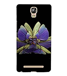 PrintVisa Colorful Butterfly Design 3D Hard Polycarbonate Designer Back Case Cover for Gionee Marathon M5 Plus