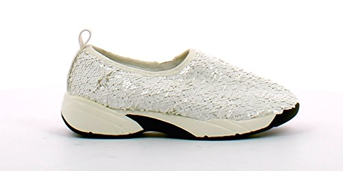 A101 FRANCESCO MILANO Sneaker donna con paiette (39, Bianco)