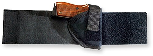 Bulldog Cases Right Hand Black Ankle Holster (Fits Most Revolvers with 2 - 2 1/2-Inch Barrels, Ruger Sp 101)