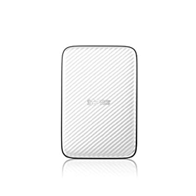 Silicon Power Diamond D20 Ultra Slim 500GB USB 3.0 External Hard Drive, White (SP500GBPHDD20S3W)