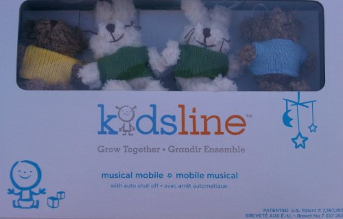 Kidsline Bunny and Bear Musical Mobile