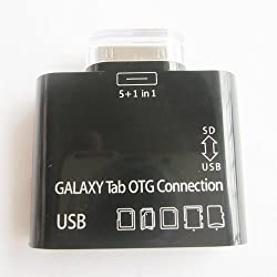 5 in 1 USB Card Reader for Samsung Galaxy Tab 7.7, 8.9, 10.1 P7500 P7510 P7310 P7300