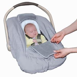 jolly jumper sneak a peek sneak a peek infant carseat cover deluxe gray. Black Bedroom Furniture Sets. Home Design Ideas