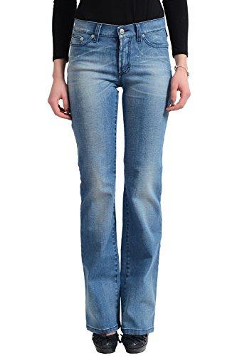 Versace Jean's Couture Women's Light Blue Straight Leg Jeans US 26 IT 40