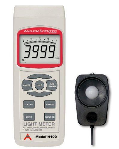 Imagen de Anaheim Científico H100 Amplia Gama Light Meter, 5 Digit Display LCD, 1,5 V DC