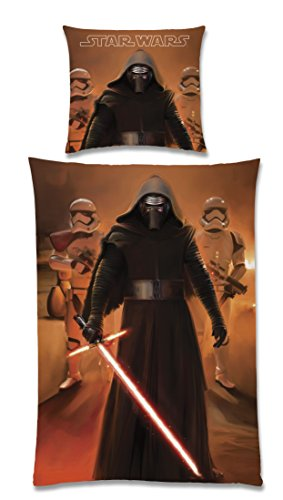 Global Labels G 104 600 SW20 100 - Biancheria da letto Star Wars, Kylo Ren II, double face, 135 x 200 cm di copripiumino e federa 80 x 80 cm
