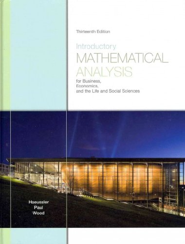 Introductory Mathematical Analysis for Business,...