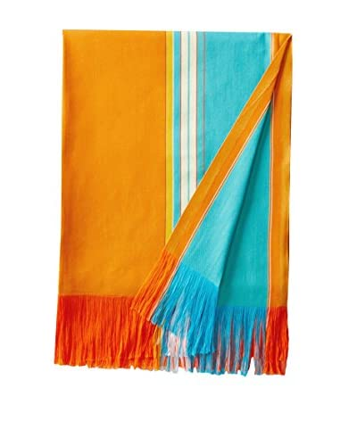Nomadic Thread Society East African Beach & Bed Throw, Orange