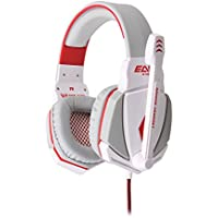 EACH G4000 Comfortable 3.5mm Stereo Listening LED Lighting Over-Ear Gaming Headphone Headset Headband With Mic...