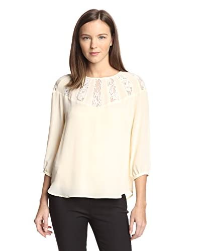 Aijek Women's Wonderment Lace Inset Top