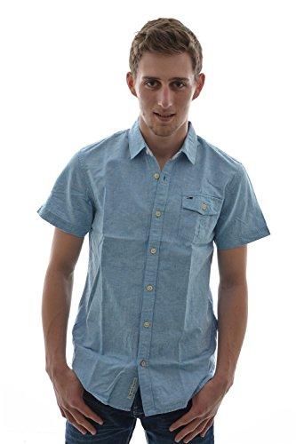 Camicia a maniche corte, Hilfiger Denim shirt nouri s/s, colore: blu blu Small