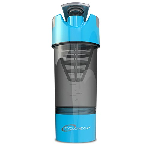 Cyclone Cup 20oz Blender Mixer Bottle Protein Shaker with Compartment-SKY BLUE color (Sky Blue Mixer compare prices)