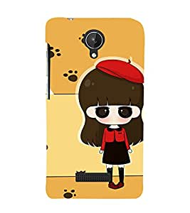 Winking Girl with Red Cap 3D Hard Polycarbonate Designer Back Case Cover for Micromax Canvas Spark Q380