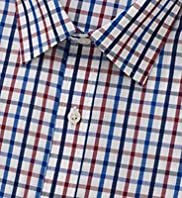 Pure Cotton Quick Iron Brit Checked Shirt