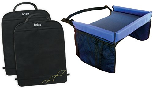 Brica Deluxe Kick Mats With Snack Travel Tray front-825972