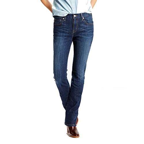 Levi's Women's 505 Straight Jeans, Sleek Blue, 34 (US 18) S