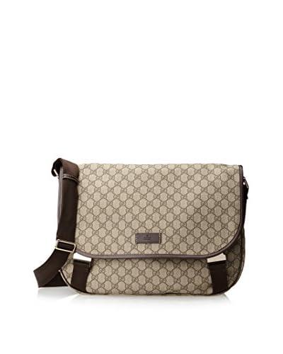 Gucci Men's Messenger Bag, Beige/Ebony