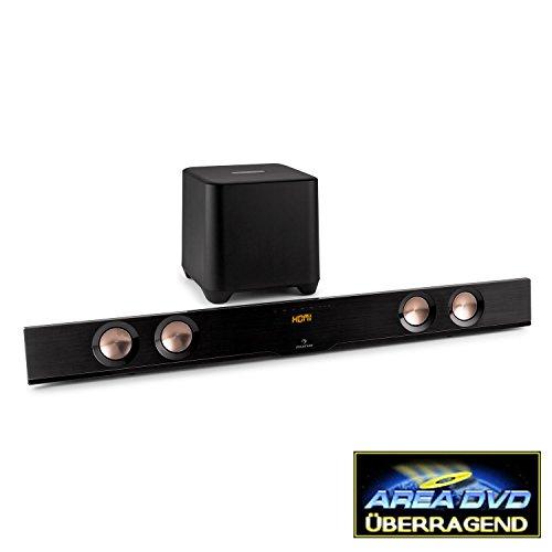 Auna-Areal-Bar-850-41-Bluetooth-Soundbar-Subwoofer-Set-fr-Heimkino-Sound-150-Watt-USB-Port-AUX-HDMI-Sleep-Timer-Fernbedienung-schwarz